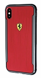 Ferrari iPhone XS Max Kılıf Kırmızı Rubber