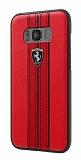 Ferrari Samsung Galaxy S8 Plus Gerçek Deri Kırmızı Rubber Kılıf