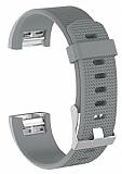 Fitbit Charge 2 Silver Silikon Kordon
