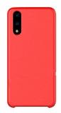 G-Case Huawei P20 Pro Deri Kırmızı Rubber Kılıf