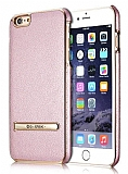 G-Case iPhone 6 / 6S Standlı Deri Rose Gold Rubber Kılıf