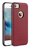 G-Case iPhone 7 Silikon Kenarlı Bordo Rubber Kılıf