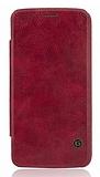 G-Case LG G5 Cüzdanlı İnce Yan Kapaklı Kırmızı Deri Kılıf