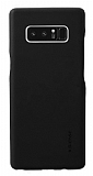 G-Case Noble Samsung Galaxy Note 8 Deri Görünümlü Siyah Rubber Kılıf