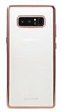 G-Case Plating Samsung Galaxy Note 8 Rose Gold Kenarlı Şeffaf Silikon Kılıf