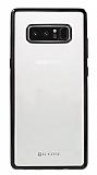 G-Case Plating Samsung Galaxy Note 8 Siyah Kenarlı Şeffaf Silikon Kılıf