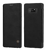 G-Case Samsung Galaxy Note 8 Cüzdanlı İnce Yan Kapaklı Siyah Deri Kılıf