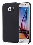 G-Case Samsung Galaxy S6 Deri Görünümlü Siyah Rubber Kılıf