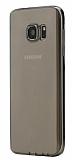 G-Case Samsung Galaxy S6 edge Ultra İnce Şeffaf Siyah Silikon Kılıf