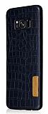 G-Case Samsung Galaxy S8 Plus Deri Desenli Siyah Rubber Kılıf