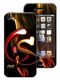 Galatasaray iPhone 4 / 4S Alevli Lisansl� Sticker