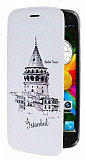 Genaral Mobile Discovery Galata Kulesi �nce Yan Kapakl� Deri K�l�f