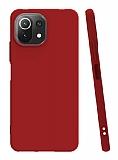 Xiaomi Mi 11 Lite Kırmızı Silikon Kılıf