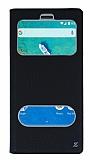 General Mobile GM 8 Gizli Mıknatıslı Çerçeveli Siyah Deri Kılıf