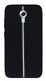General Mobile Android One Kadife Dokulu Siyah Silikon Kılıf