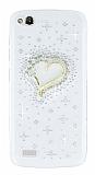 General Mobile Discovery Taşlı Kalp Şeffaf Silikon Kılıf