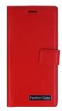 Eiroo Lux General Mobile GM 5 Plus Standlı Cüzdanlı Kırmızı Deri Kılıf