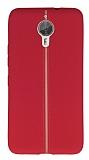 General Mobile GM 5 Plus Kadife Dokulu Kırmızı Silikon Kılıf