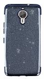 General Mobile GM 5 Plus Simli Siyah Silikon Kılıf