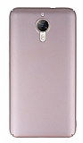 General Mobile GM 5 Plus Tam Kenar Koruma Rose Gold Rubber Kılıf