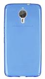 General Mobile GM 5 Plus Ultra İnce Şeffaf Mavi Silikon Kılıf