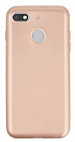 General Mobile GM 8 GO Mat Rose Gold Silikon Kılıf