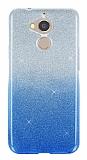 General Mobile GM 8 Simli Mavi Silikon Kılıf