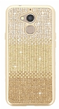 General Mobile GM 8 Taşlı Geçişli Gold Silikon Kılıf