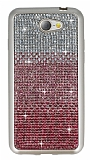 General Mobile GM6 Taşlı Geçişli Pembe Silikon Kılıf