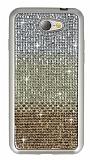General Mobile GM6 Taşlı Geçişli Gold Silikon Kılıf