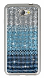 General Mobile GM6 Taşlı Geçişli Mavi Silikon Kılıf