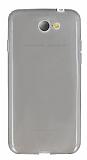 General Mobile GM6 Ultra İnce Şeffaf Siyah Silikon Kılıf