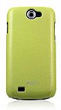 gimi Samsung i8150 Galaxy W Sert Parlak Ye�il Rubber K�l�f