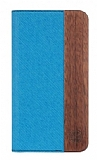 GOODEA iPhone 6 / 6S Ahşap Kapaklı Mavi Kılıf
