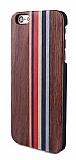 GOODEA iPhone 6 / 6S Darkwood Rainbow Ahşap Kılıf