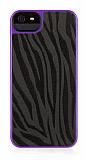 Griffin iPhone SE / 5 / 5S Moxy Zebra Desenli Mor Rubber K�l�f