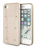 Guess iPhone 7 / 8 Gold Deri Rubber Kılıf