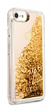 Guess Glitter iPhone 7 / 8 Simli Gold Silikon Kılıf