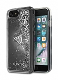 Guess iPhone 7 / 8 Sulu Simli Silver Rubber Kılıf