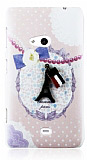 Happy Nokia Lumia 625 Paris Rubber K�l�f
