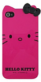Hello Kitty iPhone 4 / 4S Pembe Fiyonklu Sert Parlak K�l�f