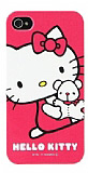 Hello Kitty iPhone 4 / 4S Pembe Sert Parlak K�l�f