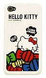 Hello Kitty iPhone 4 / 4S �ekerli Beyaz Silikon K�l�f