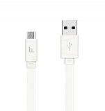 Hoco Bamboo X5 USB Type-C Beyaz Data Kablosu 1m