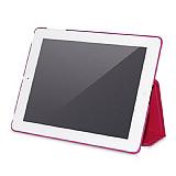 Hoco iPad 2 / iPad 3 / iPad 4 Standl� Pembe Deri K�l�f