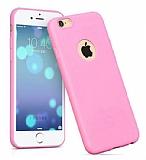 Hoco Juice iPhone 6 / 6S Açık Pembe Silikon Kılıf