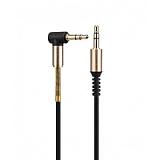 Hoco Premium 3.5mm Alt�n U�lu Siyah Aux Kablo