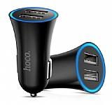Hoco UC204 Çift USB Girişli Siyah Araç Şarjı