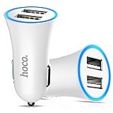 Hoco UC204 Çift USB Girişli Beyaz Araç Şarjı