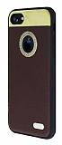Hojar iPhone 7 Deri Kahverengi Rubber Kılıf